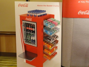 Coke Above the Basket display at Future Connect 2013