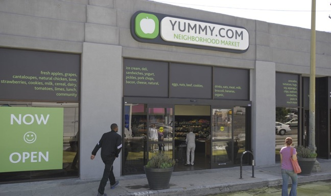 Yummy.com has four stores in Southern California, each with about 3,000 SKUs.