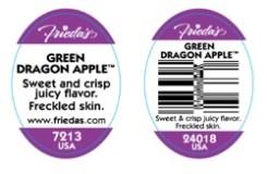 Green Dragon Apple Label