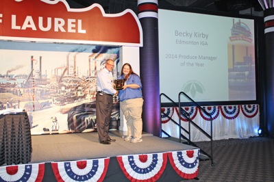 Becky Kirby - Produce Manager of the Year - Edmonton IGA