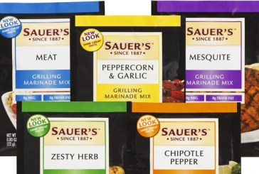 Sauer's Unveils New Packaging Graphics for Grilling Marinade Mixes