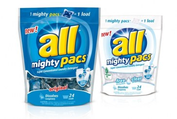 All Introduces Mighty Pacs Laundry Detergent