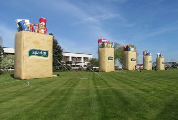 Huge Grocery Bags Promote Spartan Stores, Products