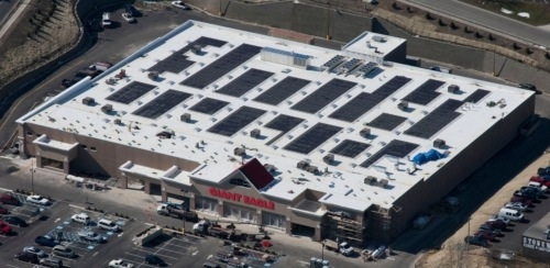 GIANT EAGLE SOLAR ROOF