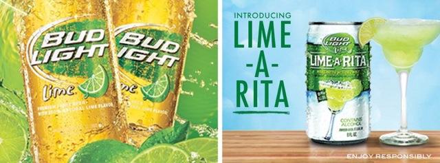 Bud Light Lime and its Lime-A-Rita