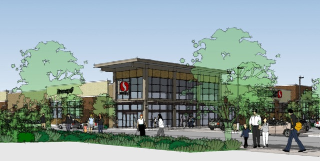 Rendering of Safeway, Seattle, Wash.