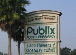 Reedy Branch Commons shopping center sign, Jacksonville, Fla.