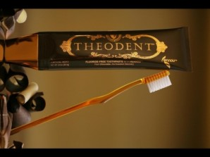 Theodent Chocolate-based toothpaste