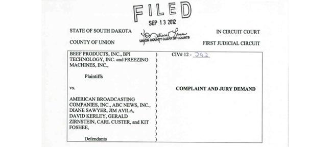 BPI lawsuit of ABC News