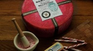 Sartori's new pink peppermint bellavitano cheese