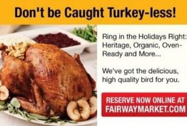 Fairway Market's Turkey Ordering Website Goes Live