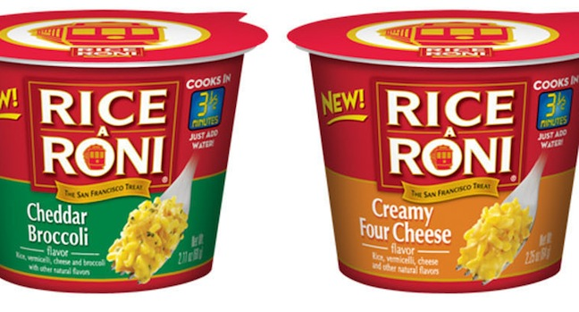 Rice-A-Roni Introduces Single-Serve Cups