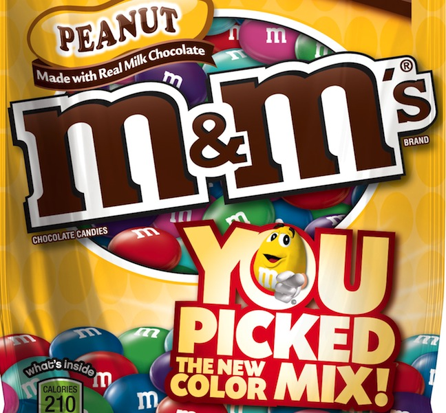 Fans Choose New Color Mix For M&M'S Candies Packages
