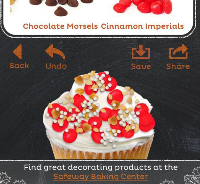 Safeway Offers Baking Items, Virtual Cupcake Decorator For Holidays