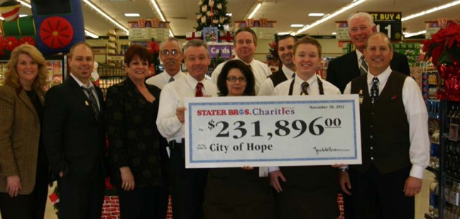 Stater Bros. Charities and City of Hope