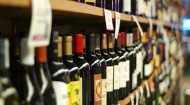wine on grocery shelves
