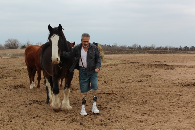 Steve Martinez with horse