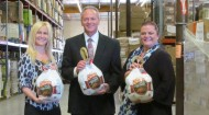 Stater Bros. and Gallo present check to Second Harvest Food Bank