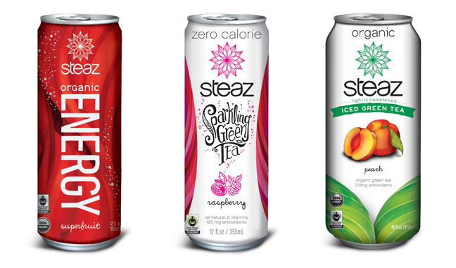 Steaz package rebranding
