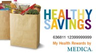 Healthy Savings grocery bag art