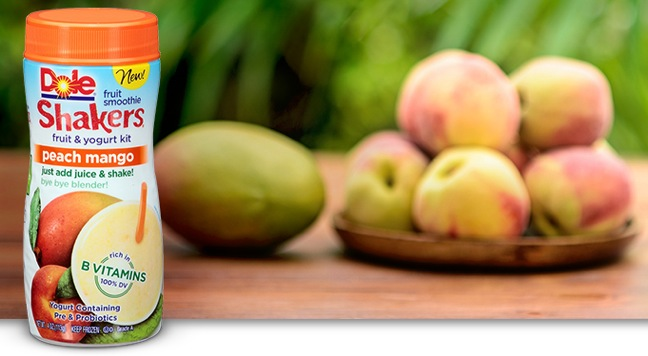 Dole Adds Peach Mango To Fruit Smoothie Shakers Lineup