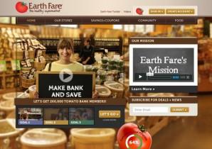 Earth Fare's homepage