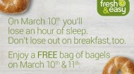Fresh & Easy free bagel promotion