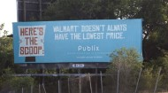 Publix billboard hits back at Walmart