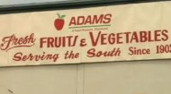 Adams Produce Co. sign