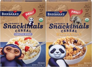 BARBARA'S SNACKIMALS CEREALS