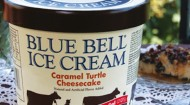 Blue Bell Caramel Turtle Cheesecake