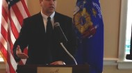 Dan Schwartzer speaks at the WGA Grocers in the Capitol Day 2013 event