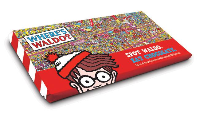 Waldo Hidden on Wrapper of New Chocolate Bar