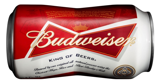 Budweiser Introducing Bowtie-Shaped Can Next Month