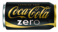 Coke Zero gold can