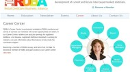 RDBA career center screen shot