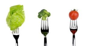 veggies on forks art