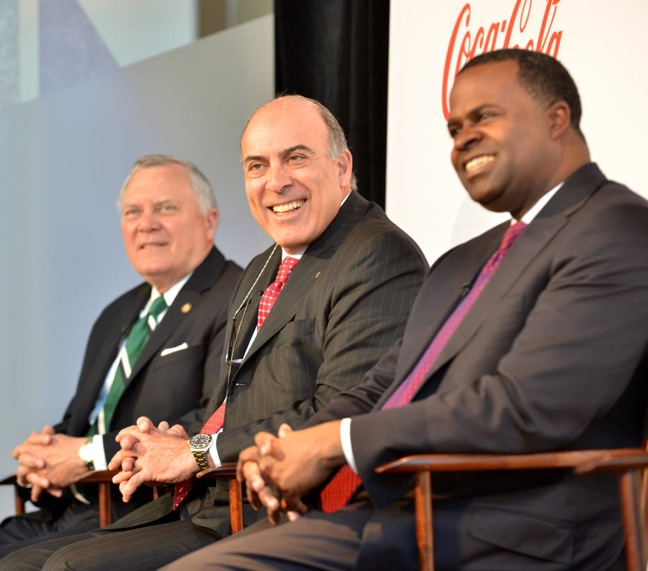 Coke's announcement in Atlanta with Deal, Kent and Reed