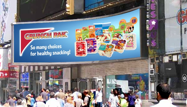 Crunch Pak Heads To Broadway With Electronic Billboard