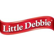 Little Debbie wording logo red ribbon