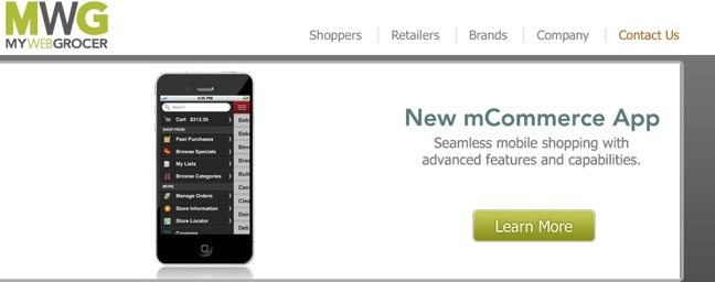 MyWebGrocer's mCommerce app