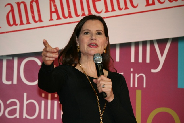 Geena Davis speaks at NEW