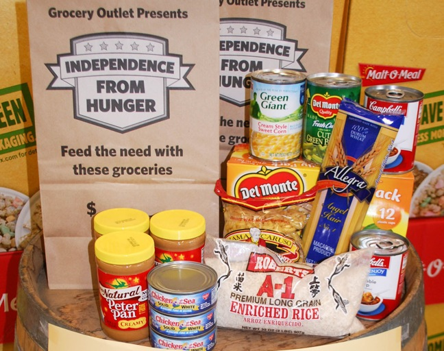 Grocery Outlet Hosts 'Independence From Hunger' Food Drive
