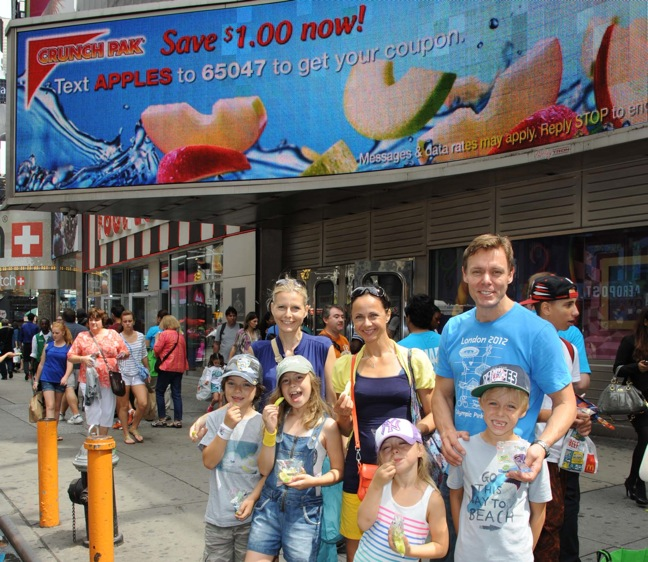 Crunch Pak Consumer Awareness For Its Fresh Apple Products in Times Square New York