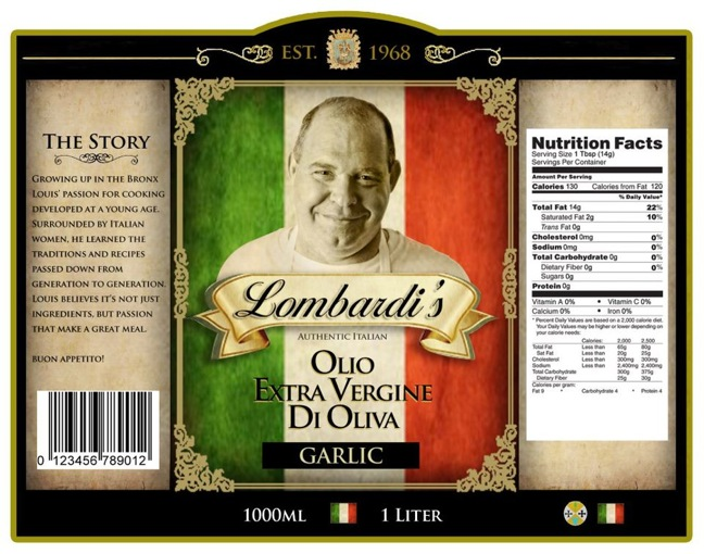 Lombardi's gourmet Italian food line