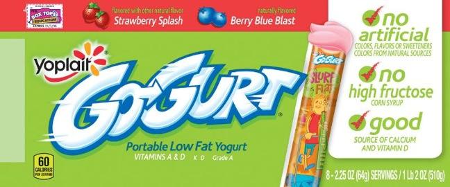 Newly reformulated Yoplait Go-Gurt yogurt is hitting store shelves ...