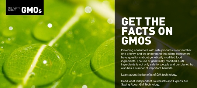 Grocery Manufacturers Association Launches GMO Facts Website