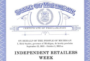 Michigan Governor Declares Sept. 25-Oct. 5 Independent Retailers Week