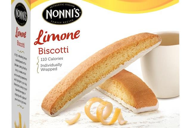 Nonni's Limone Biscotti Package