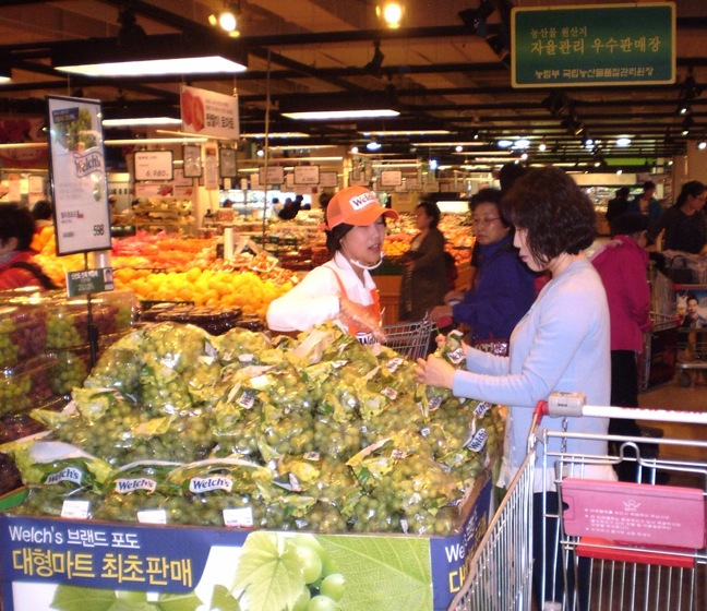 Welch's Grapes sold in South Korea